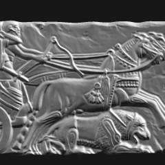Bassorilievo egizio in creta