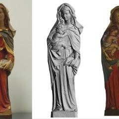 Statua Legno Madonna Dipinta a Mano
