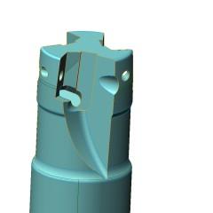 Fresa cilindrica 3 inserti