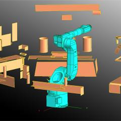 Modellazione isola robotizzata da scansione a punti